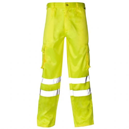 Supertouch Yellow Hi Vis Combat Trousers